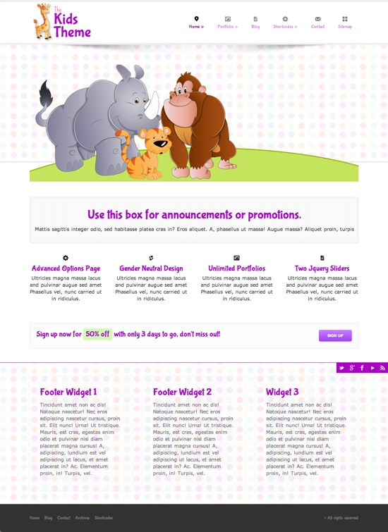 The Kids WordPress Theme