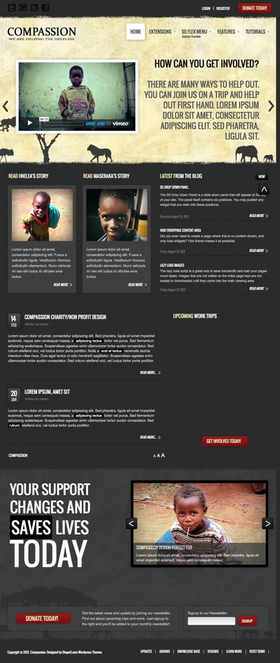 Compassion Shape5 WordPress Theme