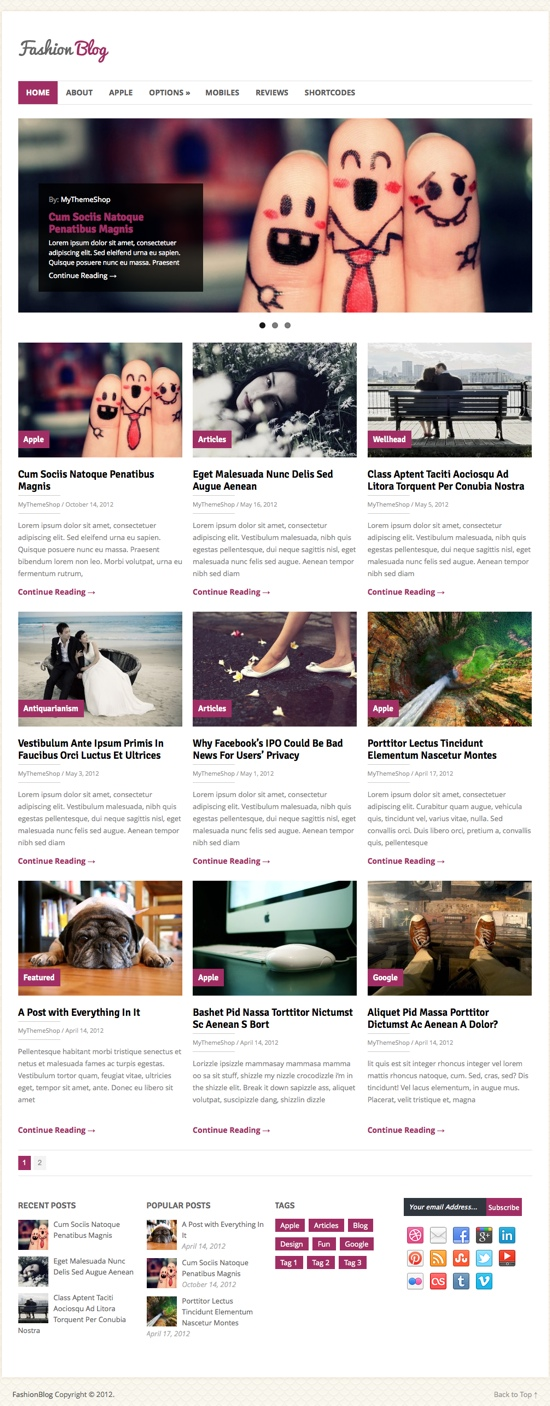 FashionBlog WordPress Theme