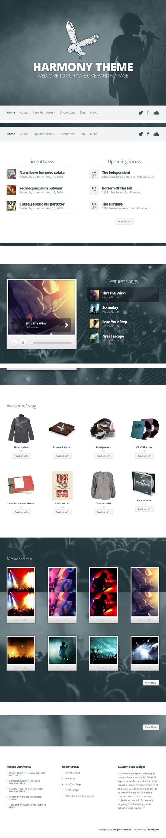 Harmony WordPress Theme