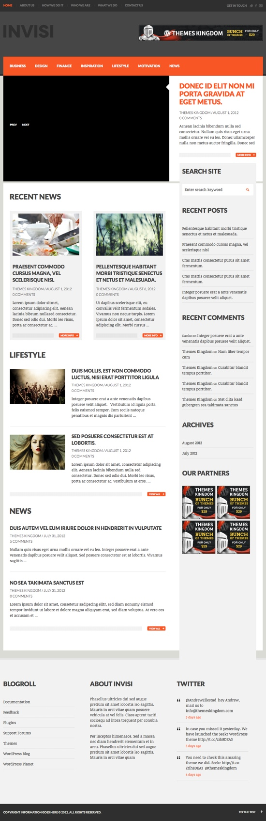 Invisi WordPress Theme