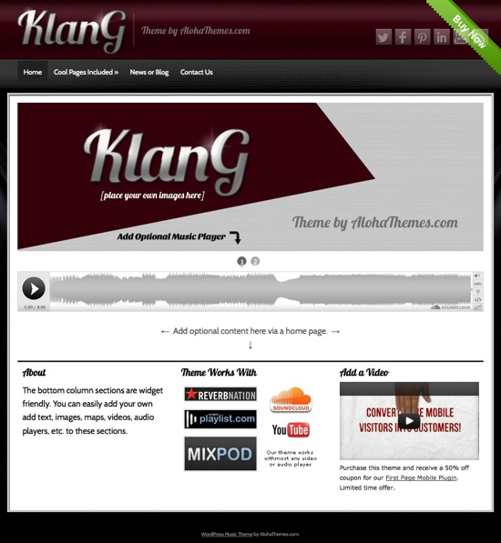 KLANG WordPress Theme
