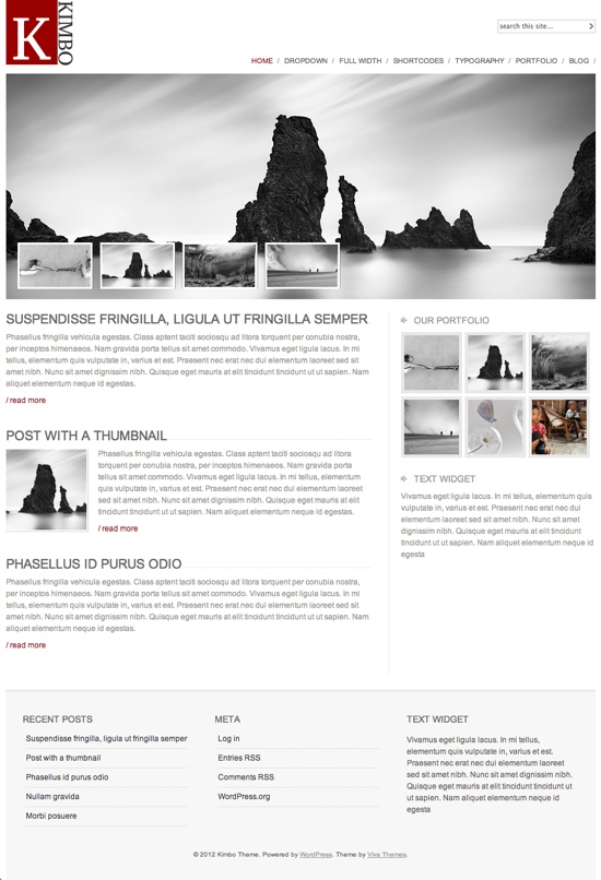 Viva Themes Kimbo Version 3.0 WordPress Theme