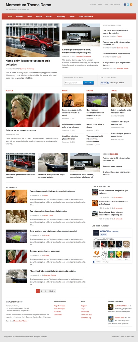 Momentum WPZOOM WordPress Theme