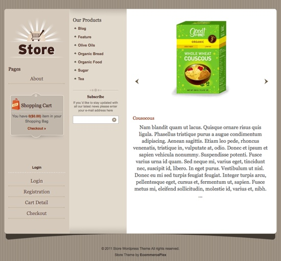 Templatic Store WordPress Theme