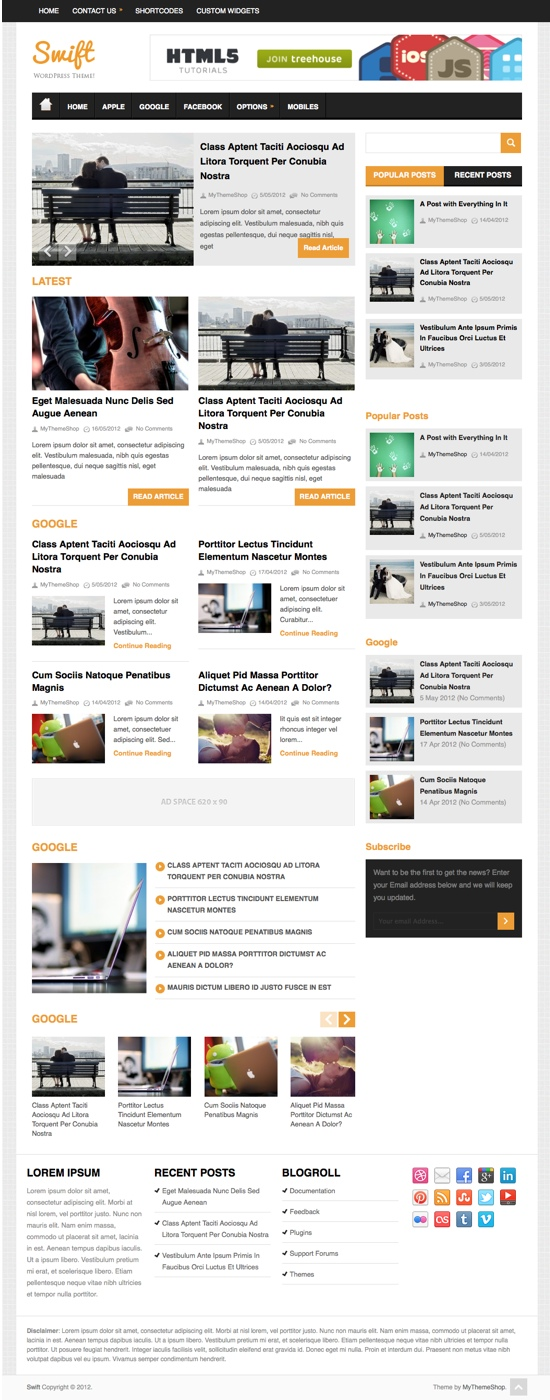 Swift MyThemeShop WordPress Theme