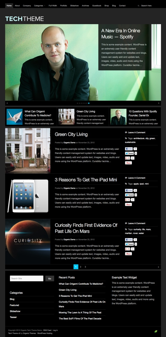 Tech Version 2 WordPress Theme