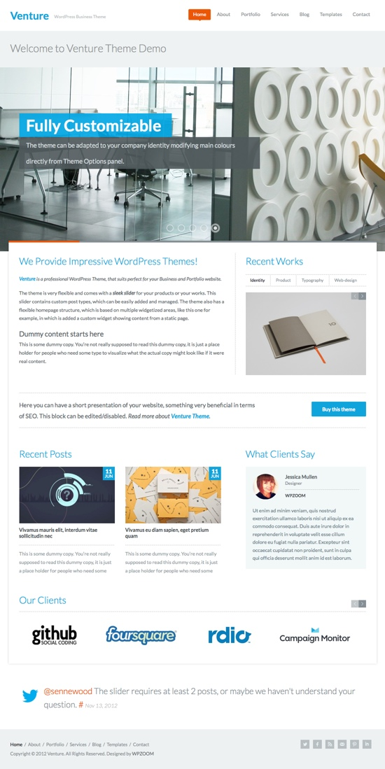 Venture WPZOOM WordPress Theme