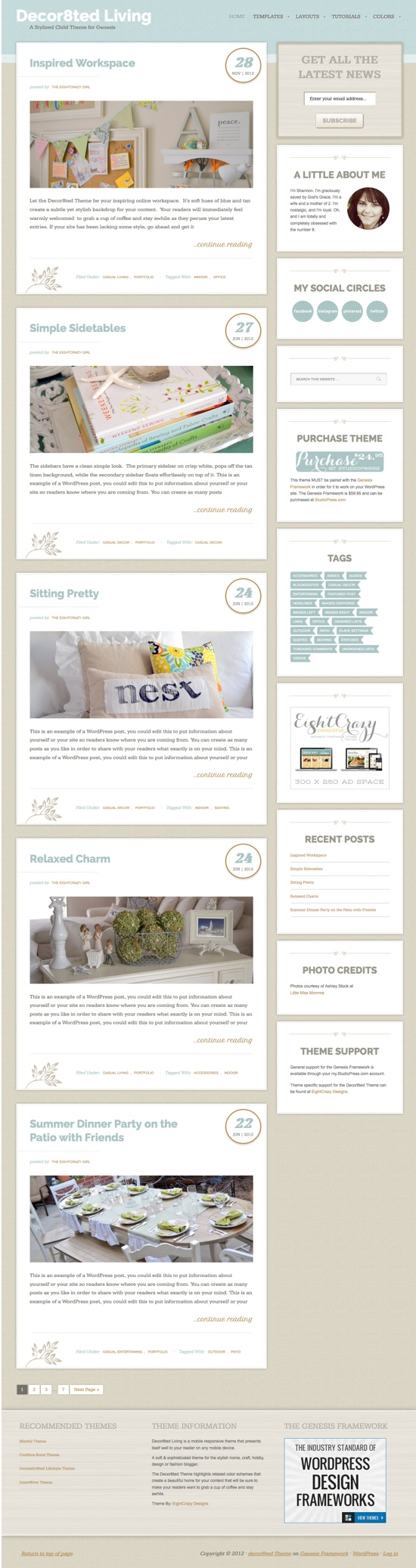 Decor8ted Child WordPress Theme