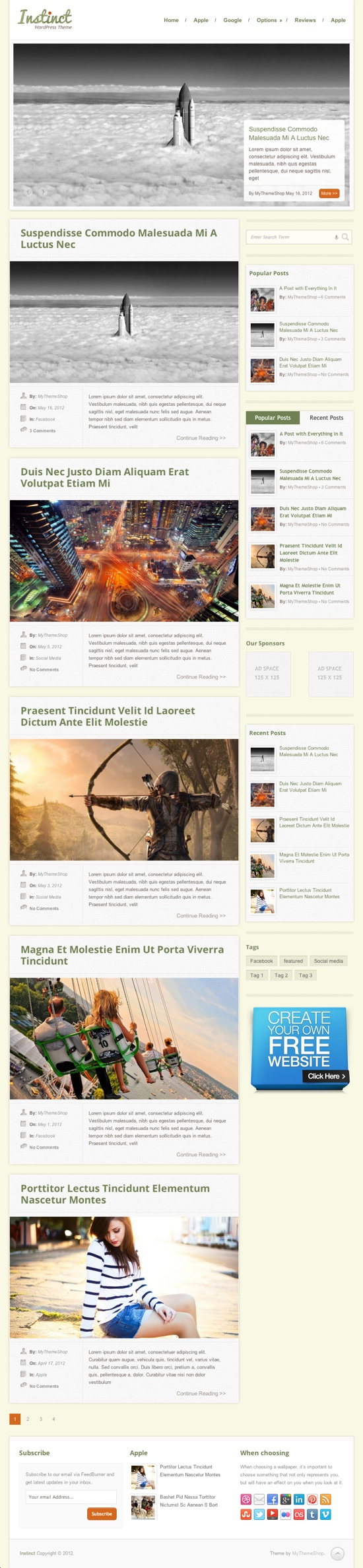 Instinct WordPress Theme