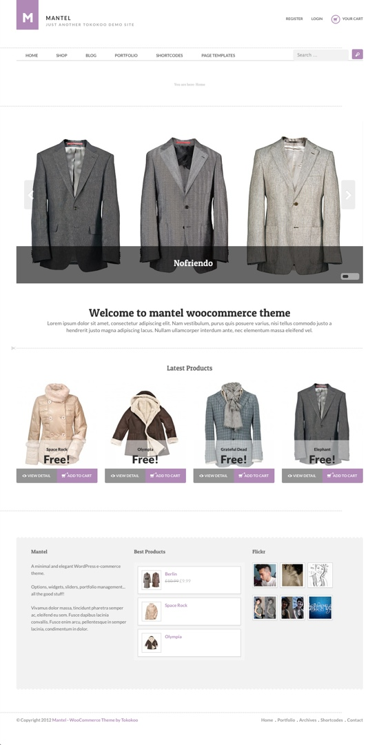 Mantel WooCommerce WordPress Theme