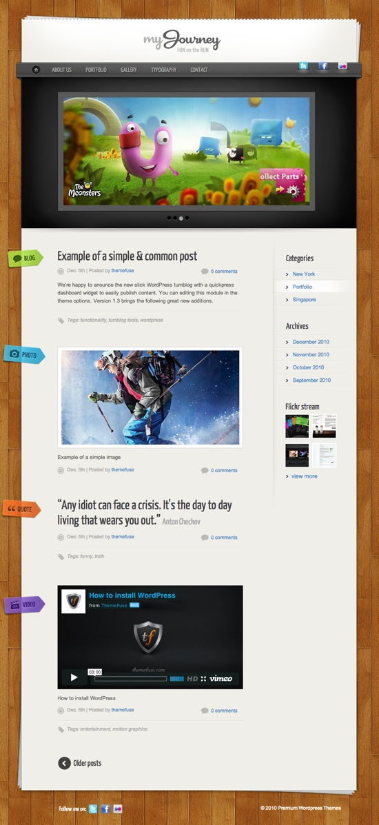 My Journey WordPress Theme