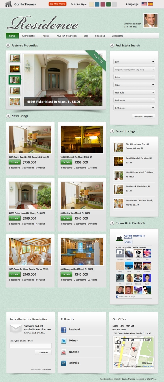 Residence V2.0 WordPress Theme