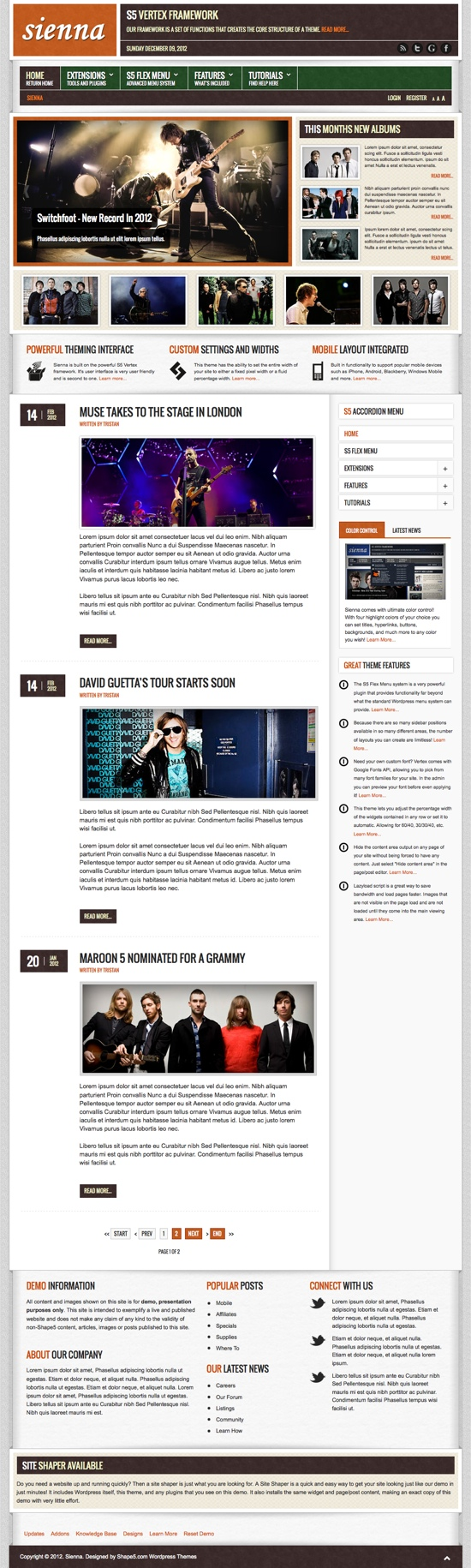 Sienna WordPress Theme
