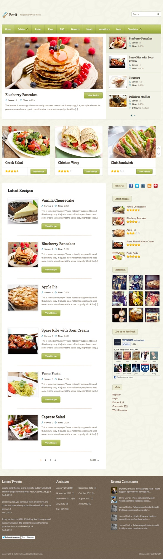 Petit WordPress Theme
